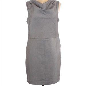 Gap sheath dress size 6 heathered grey